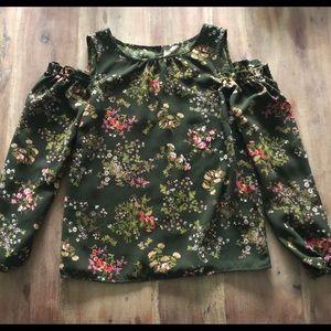 Lauren Conrad open shoulder blouse